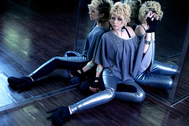 #RightLove 2012 Collection Grey Studs Cape Silver Sequin Legging