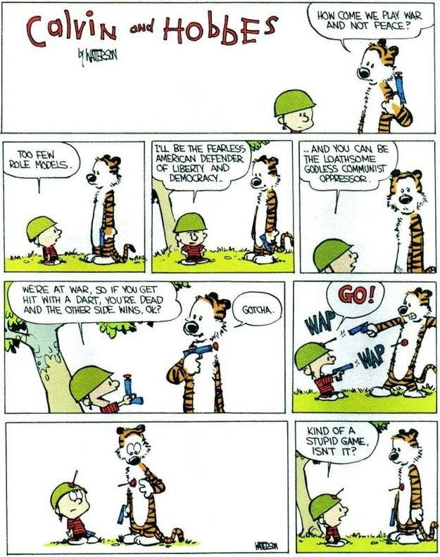 Funny calvin and hobbes comics