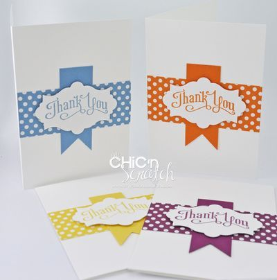 My Chic n Scratch July 2012 thank you card- Angie knows how to make simple look beautiful!!