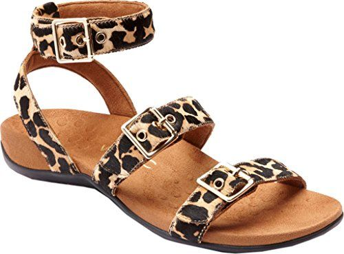 Vionic Womens Rest Sahara Backstrap Sandal Tan Leopard Si... https://. Ankle  Strap ...