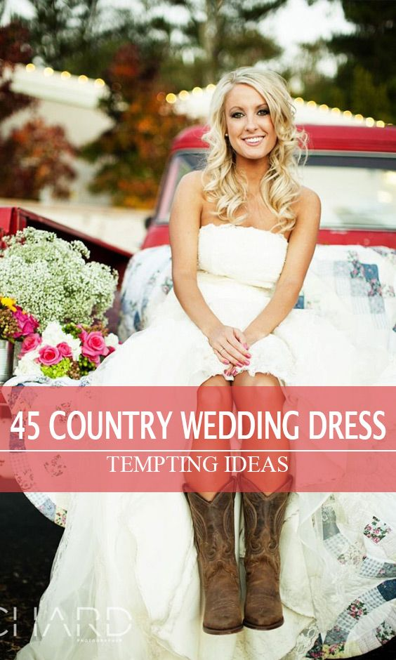 d8428b55da63 Lovely short style with country cowboy boots! Lovely short style with country  cowboy boots! Short Country Wedding Dress ...
