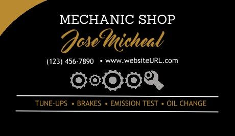Mechanic Business Cards Mechanic Car Industry Business Card