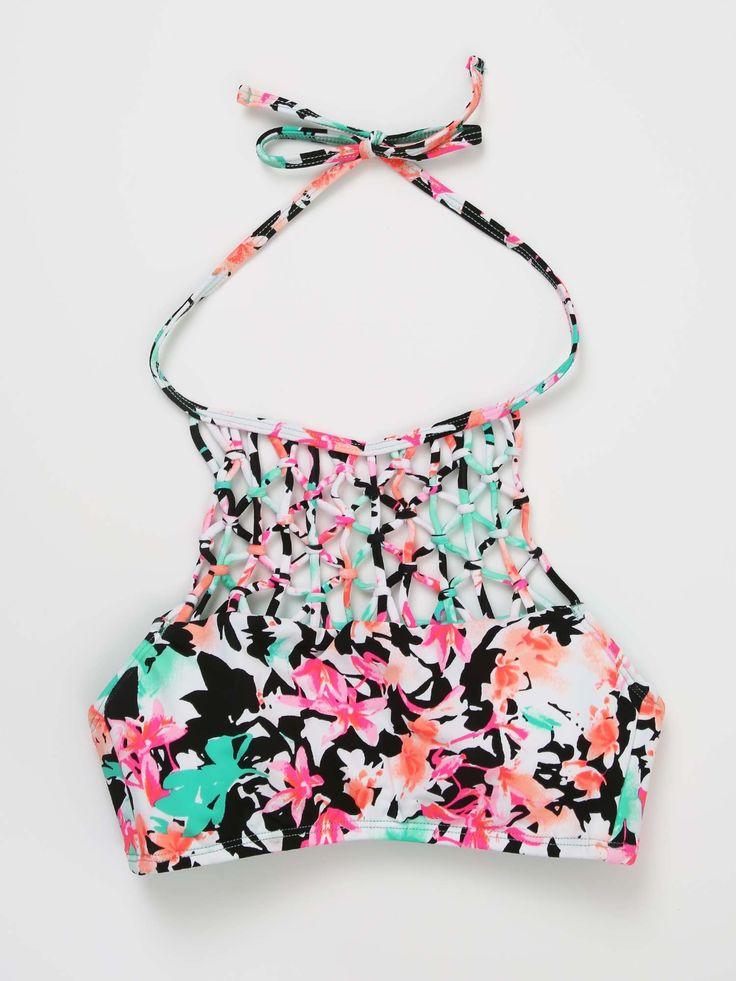 In Bloom Halter Bikini Top