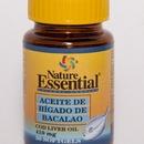 Aceite de Higado de Bacalao, äcido graso esencial... ~$5.90    http://www.elpozodelasalud.es/compra/aceite-de-higado-de-bacalao-50-perlas-de-410-mg-nature-essential-249929
