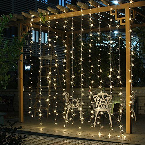 Fuloon 3M x 3M 300 LED Outdoor Party christmas xmas String Fairy Wedding Curtain Light 8 Modes for Choice 110V (Warm White) Fuloon http://www.amazon.com/dp/B00D86AGAC/ref=cm_sw_r_pi_dp_IA4nwb060RQ7Q