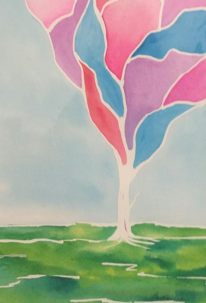 Painting - Watercolor on 140lb Arches - Enchanted Tree 9