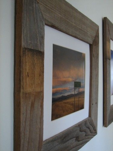 Old, weathered fence slats turned farmhouse chic frames!