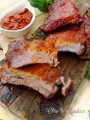 Ribs with barbecue sauce, baked - Costine con salsa barbecue, al forno