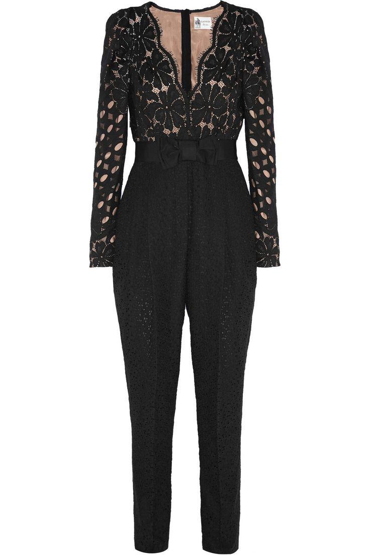 Lanvin | Guipure lace jumpsuit | NET-A-PORTER.COM