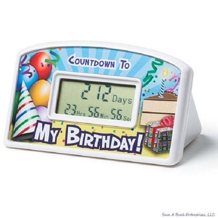 Happy Birthday Countdown Desktop Timer Clock Gag Gift Kids To Adults - Bigmouth
