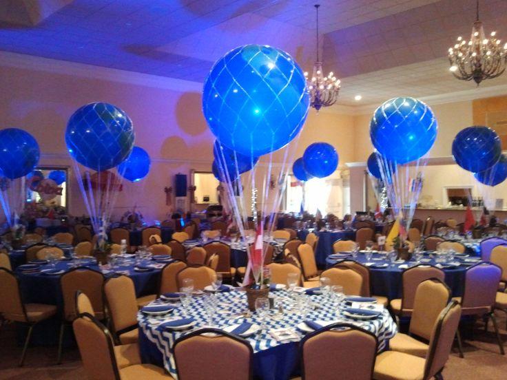 Jumbo hot air style balloon centerpieces boca raton