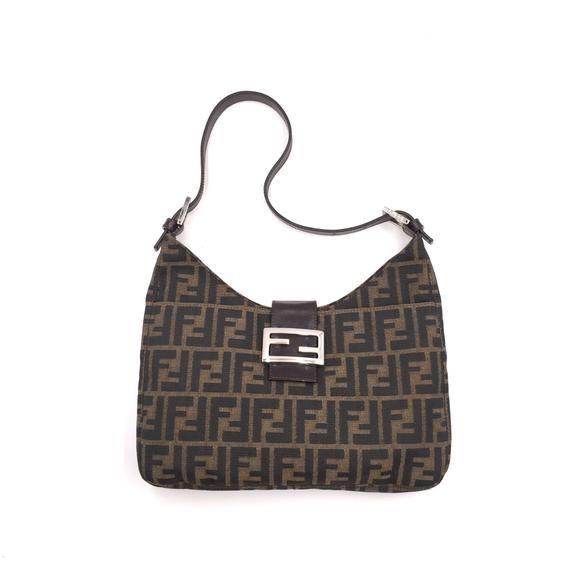 Authentic Vintage Fendi Zucca Baguette Bag Etsy Bags Fendi Canvas Bag