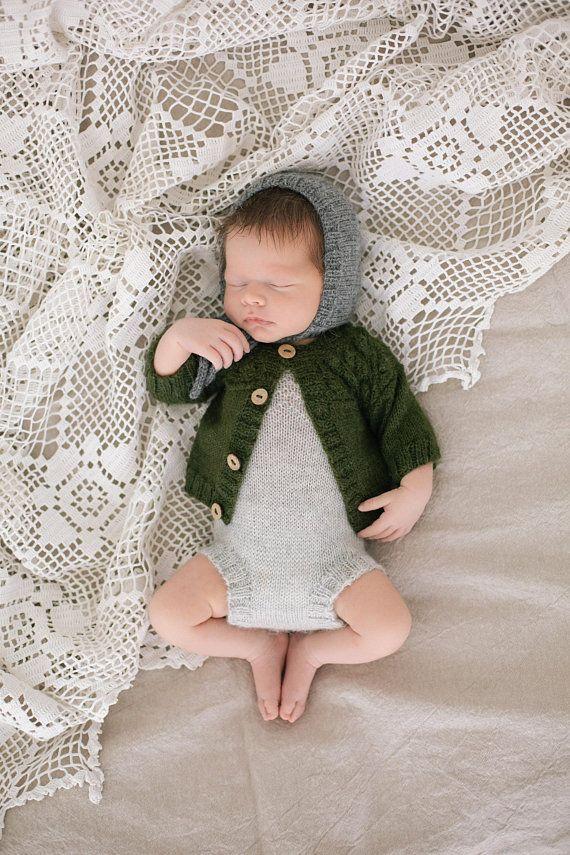 addf158de Hand knit baby romper