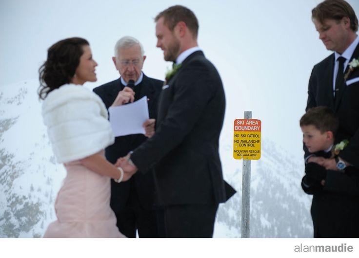Ski hill winter weddingKicking Horse Wedding Photographer, Eagles Eye Restaurant Wedding, Kicking Horse Wedding, KHMR