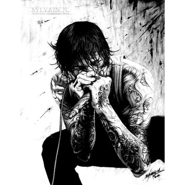 MITCH LUCKER. ❤ liked on Polyvore featuring bands, suicide silence, drawings and other