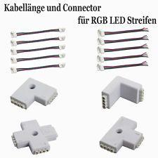 Schnellverbinder Connector Verlängerungskabel L T-Verbinder für RGB LED Strip