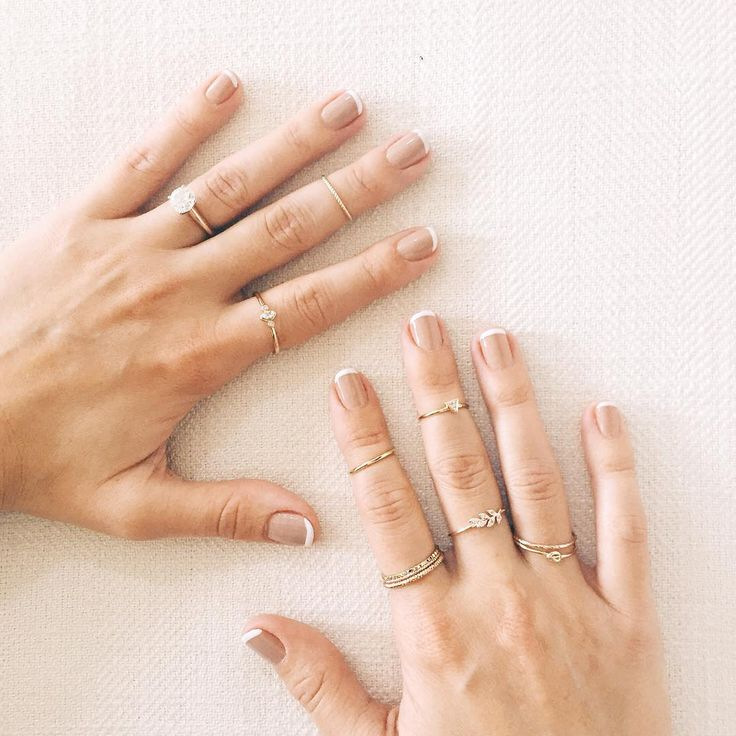 Lauren Conrad's nude french manicure, by Olive & June