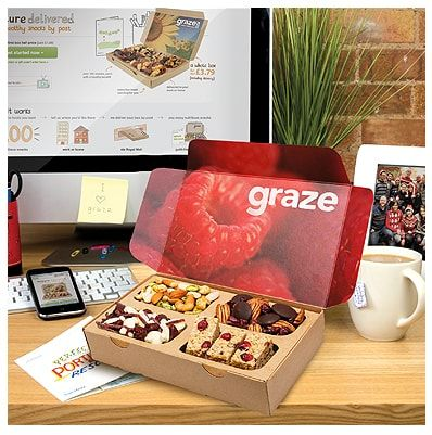 Graze Box <3 Use this code to get 1st and 5th box free 6TZTTFJGP  This company is such a great idea!!