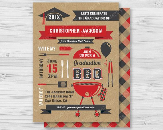 17 Best images about BBQ Barbecue Cookout Invitations on – Graduation Cookout Invitations