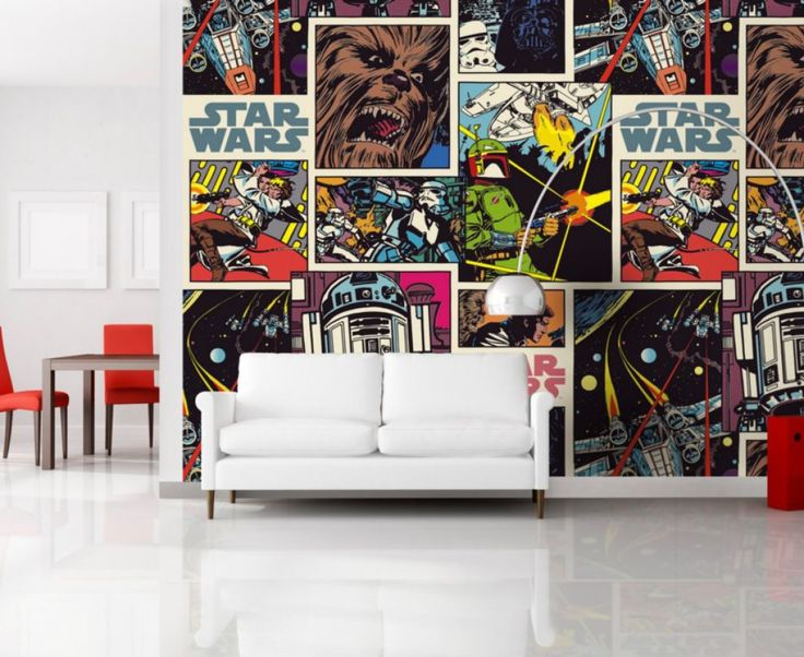 Star Wars Collage Wallpaper Mural By WallandMore Collection