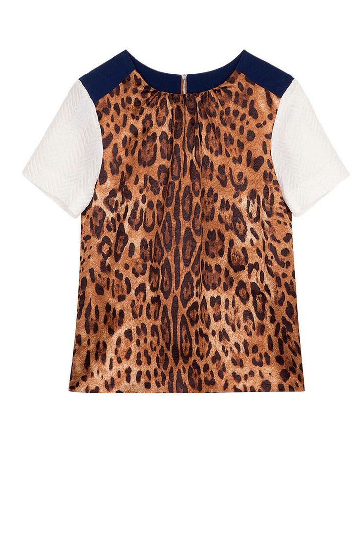 Get the Look  Sandro Printed Silk Top, $320; sandro-paris.com