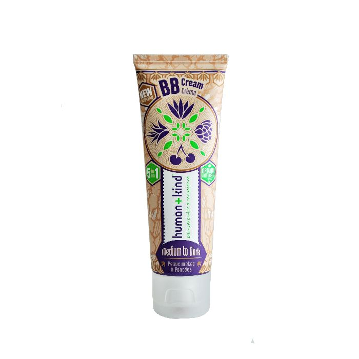 IRISH MADE - HUMAN+KIND'S BB CREAM: provides any sensitive, combination or normal skin with the perfect blend of moisture and warm, sheer colour to help even out skin tone without acting like a foundation.  The antioxidant benefits of the natural and organic ingredients, all help to reduce UV damage and aid in skin repair. Our BB cream range comes in TWO TINTS: Light to Medium and Medium to Dark.