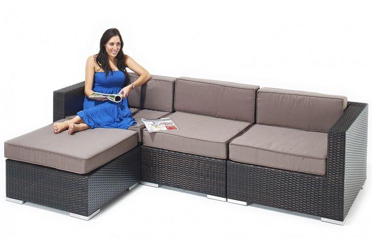 Sydney Rattan Corner Sofa