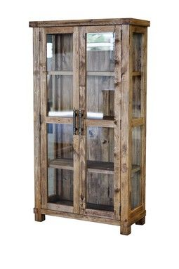 Country Glass Display Cabinet