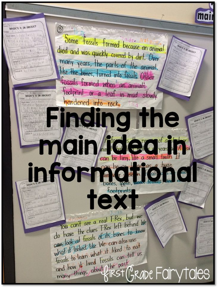 What's the Big Idea? Main Idea in Informational Text