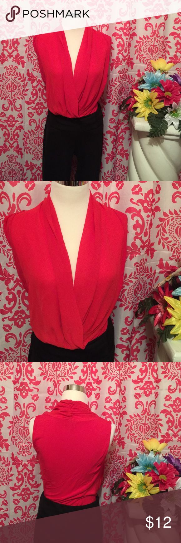 Body suite Elegant red body suite never been worn Tops Blouses