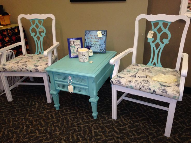 Beautiful Beautiful Painted Chairs U0026 End Table