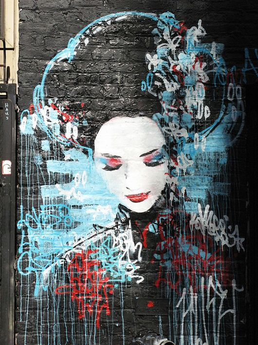 hush - I think that's a terrific name for a an artist - I propose that we don't differentiate between outdoor and indoor and just call this art, instead of street art