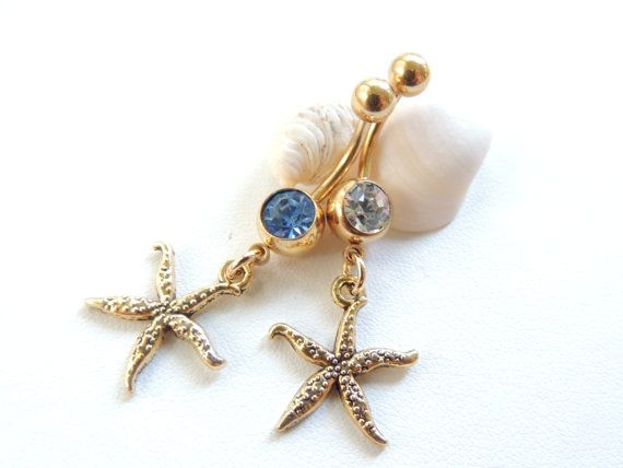 Gold Starfish Belly Button Ring by SeductiveBodyWorks, $10.00