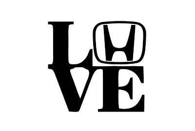 5 Honda LOVE Decal DO NOT Install In Hot Sun Pressure sensitive adhesive The harder you press the better it stays! Easy to keep clean! Vinyl lasts 4-6 years outdoors!