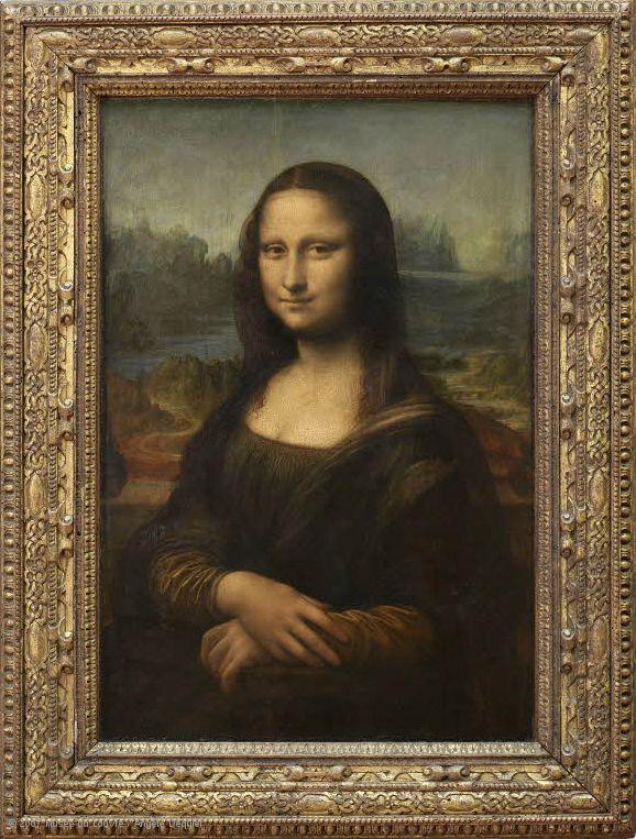 Leonardo di ser Piero da Vinci, dit Léonard de Vinci • Portrait de Lisa Gherardini, épouse de Francesco del Giocondo, dite Monna Lisa, la Gioconda ou la Joconde, vers 1503-06