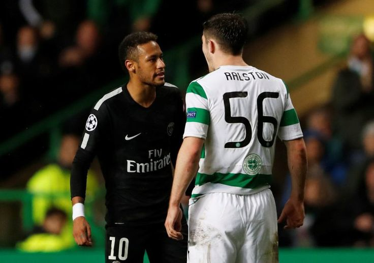 Neymar refuses to shake Anthony Ralston's hand after PSG hammer Celtic Neymar clashed with Anthony Ralston during the match. (Reuters) Neymar refused to shake Anthony Ralston's hand after arguing with the Celtic defender in Paris Saint-Germain's win in the Champions League on Tuesday evening. PSG cruised to a 5-0 win over Brendan Rodgers' side with Neymar opening the scoring in the 19th minute. Jose Mourinho tears into Man Utd stars after 3-0 win over Basel Kylian Mbappe and Edinson Cavani…