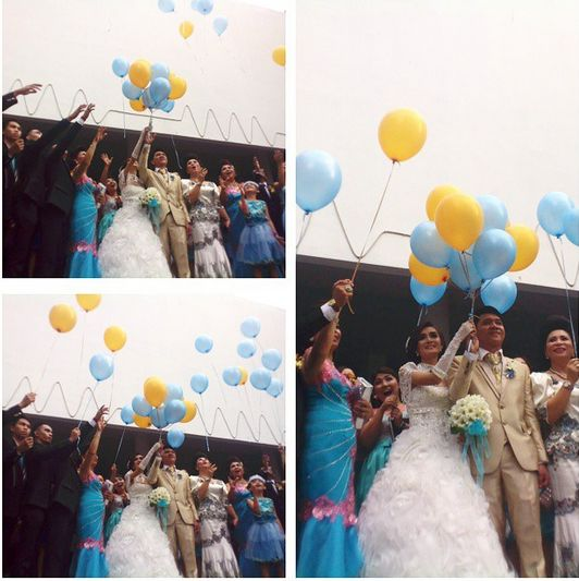 Jaqline and Ronald's Wedding #Ballon #Ceremonial #Wedding