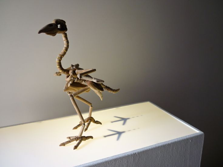 Giovanni Longo, Sedentary migratory / driftwood, foam rubber, iron, litghbox and drawing, 2012 (Rocco Guglielmo Foundation)... https://www.facebook.com/giovannilongo.art