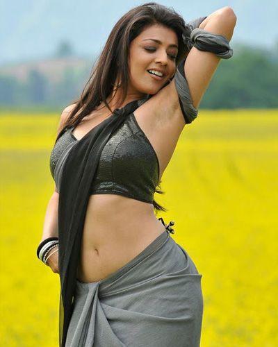 Kajal Agarwal Hot Saree Pic by bollywoodesigns