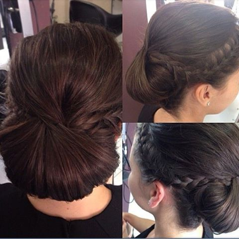 This beautiful formal style was created in our Parramatta salon and combines the best of chignon, braids and a beautiful brunette colour. For formal, wedding and engagement styles, you can trust the team at Hair by Phd! #hairbyphd #formal #formalhair #formalstyle #chignon #braids #updo #wedding #weddinghair #weddingstyle #weddings #engagement #engagementstyle #engagementhair #parramatta #carlingford #hair #salon #brunette #bun #hairstylist