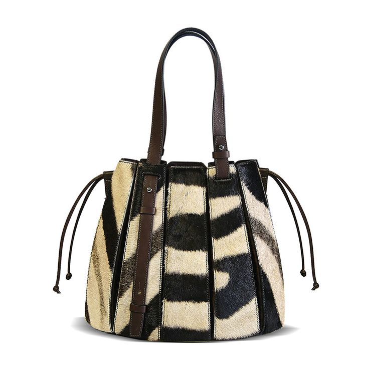 the zebra  FERN handbag. available from Deon Sibold in Namibia