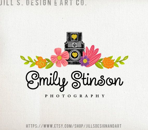 Photography Logo  Camera Logo  Logo Design  by JillSDesignandArt