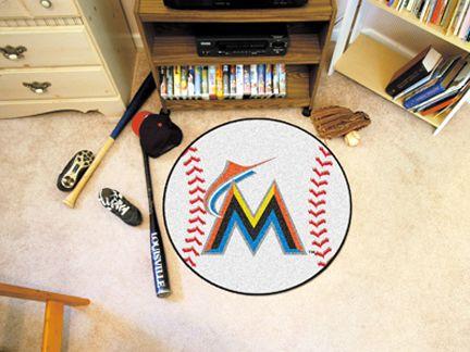 27 inch Round Miami Marlins Baseball Mat