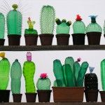 Recycled PET Plastic Bottle Plant Sculptures by Veronika Richterová