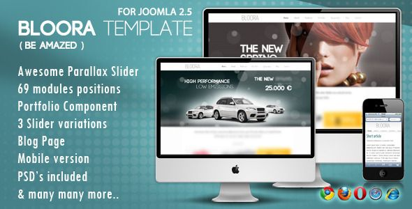 Joomleros! :: Tema: Bloora Template Themeforest Plantilla Joomla (1/1) | Joomleros