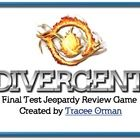 Divergent Novel Final Review Game PowerPoint  This IS included in my Divergent Novel Unit - Common Core Aligned.  Here's a fun game over Veronica R...