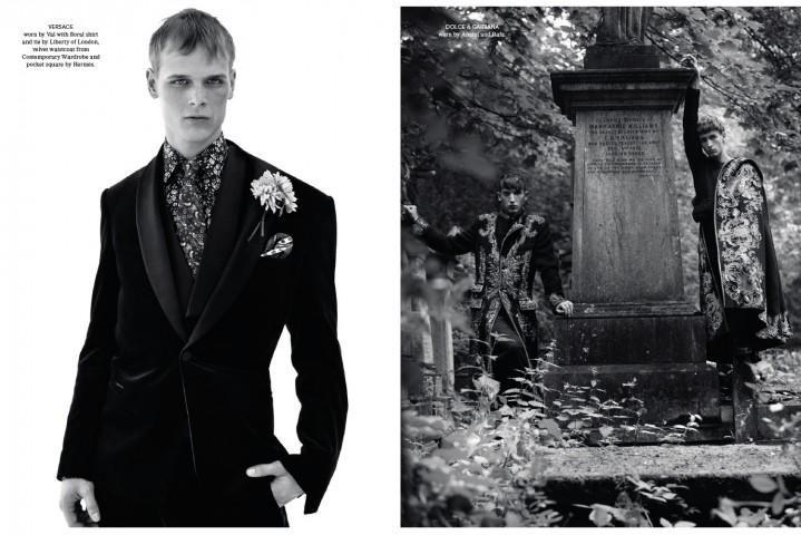 "Val Dolezal - Anatol Modzelewski and Rafa Bodgar in ""Autumn Winter Collection 2012 Collections"" by Benjamin Alexander Huse for Another Man Magazine - Autumn Winter 2012-2013"