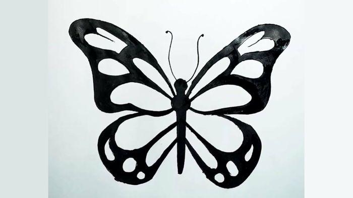 1001 Idees De Dessin De Papillon Pour S Inspirer Et Apprendre Comment Le Dessiner Dessin Papillon Dessin Papillon Facile Comment Dessiner Un Papillon