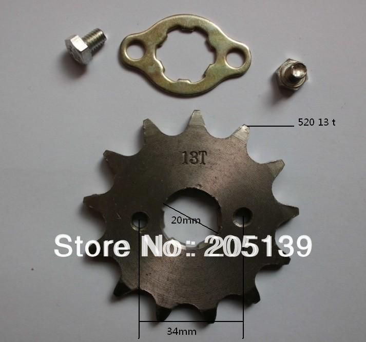 best price 13t 20mm front engines gear sprocket for 520 chain motorcycle moto pit dirt atv reverse #pit #bike #parts