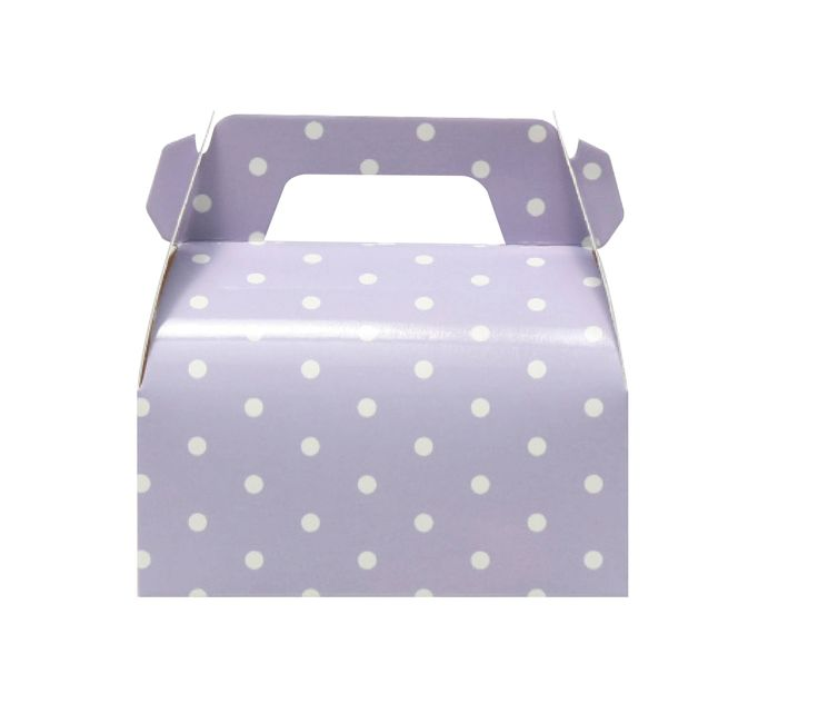 10 Lilac Polka Dots Gable Boxes, Lilac Gable Boxes, Lilac Baby Shower Favor, Lilac Candy Box, Sofia the First Gable Boxes, Lilac Favor Boxes by MookiPartyShop on Etsy